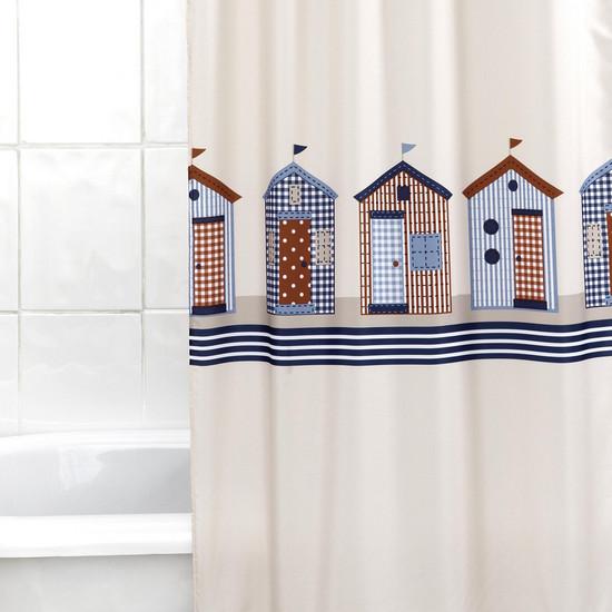 Koupelnový závěs Beach hut 180 x 180 cm