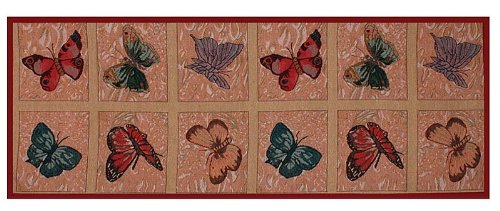 Kuchyňský běhoun Motýli 134 x 49 cm