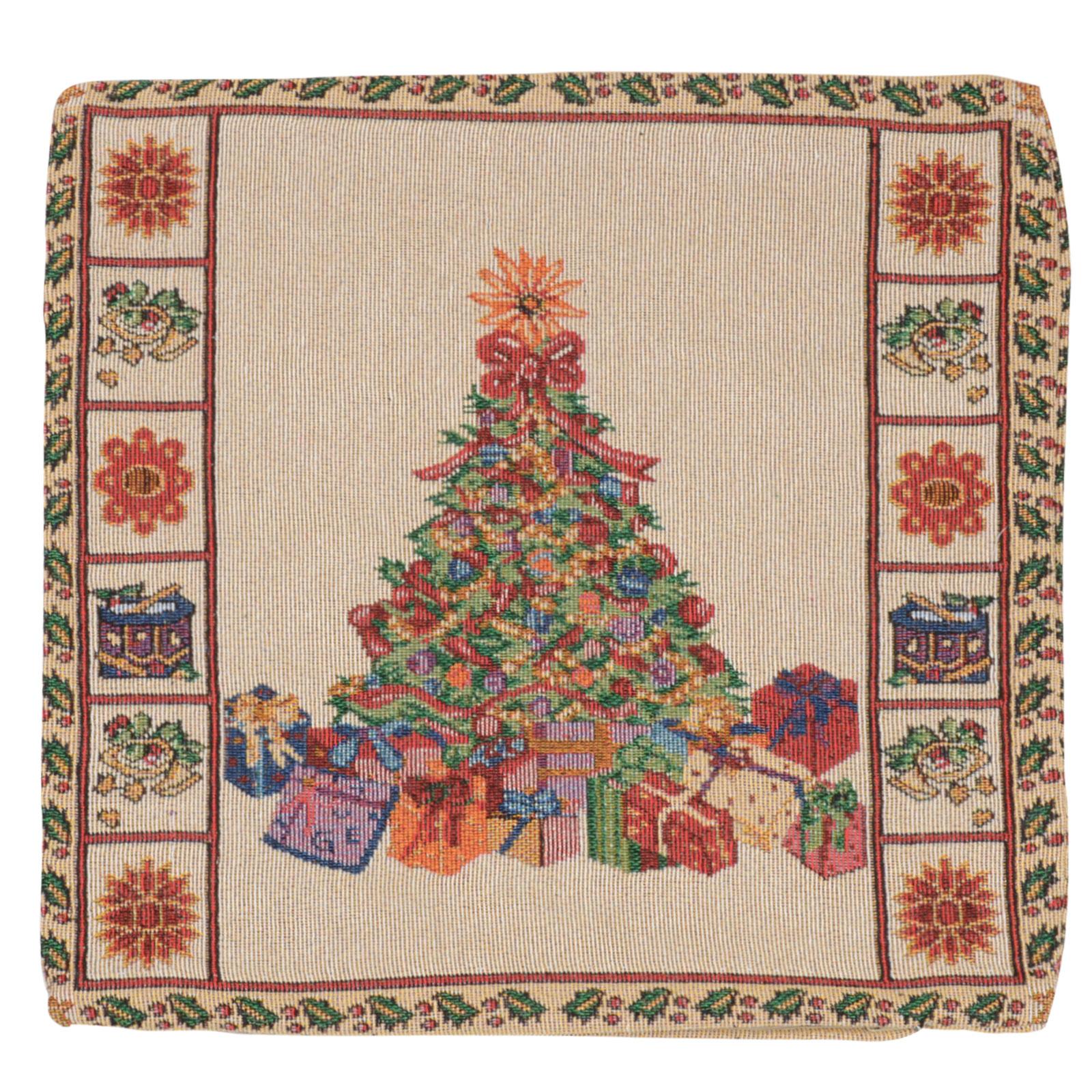 Povlak na dekorační polštář Vánoční stromek